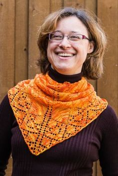 Flame Keeper Shawl Pattern by Laurie Beardsley