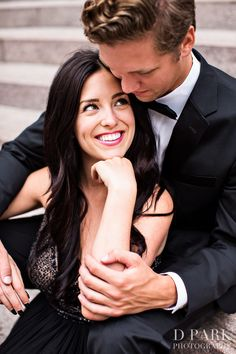 Glam black tie engagement shoot in LA. Photography: D Park Photography - dparkphotography.com/  Read More: http://www.stylemepretty.com/california-weddings/los-angeles/2013/12/30/los-angeles-engagement-session/