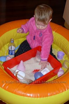 Easy way to keep tactile play contained.  Repinned by SOS Inc. Resources.  Follow all our boards at http://Pinterest.com/sostherapy for therapy resources.