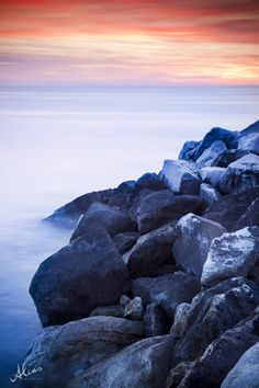 Sunset landscape photo from Cinque Terre, Italy. Sunset Landscape, Landscape Photos, Landscape Photography, Cinque Terre, The Rock, Trek, Rocks, Italy, Mountains