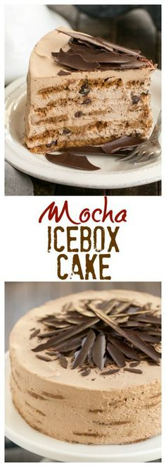 Mocha Chocolate Chip Cookie Icebox Cake | A no-bake dessert that will make you swoon!! #nobake #iceboxcake #mocha #dessert