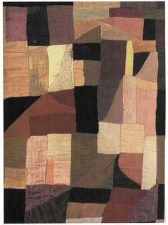 » sonia delaunay: eine flickendecke nach russischer tradition, spontan genäht für baby charles, 1912 – später als erstes abstraktes werk geschätzt & eingerahmt.
