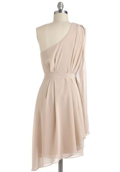 Champagne Soiree Dress, #ModCloth i wish they had this in a better color!!