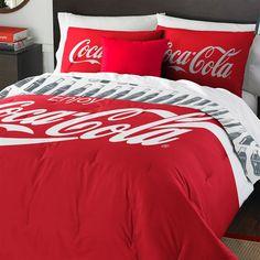 rogeriodemetrio.com: Coca-Cola Logo Twin Bedding Set