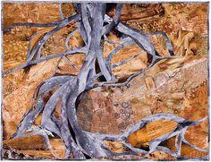 eines Feigenbaumes  96 x 126 cm  Baumwolle   Maschinengenäht Handgequiltet