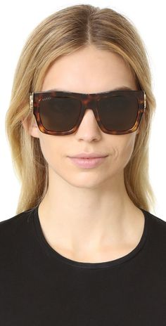 Gucci GG Emphasis Flat Top Oversized Sunglasses | SHOPBOP