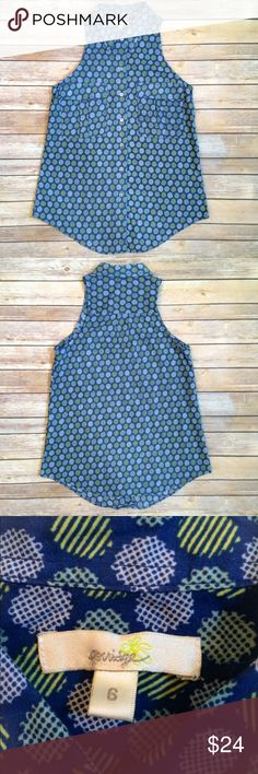 "PORRIDGE ANTHROPOLOGIE Top Cute sleeveless Porridge top // 16 1/2"" across chest measured at armpit // almost 27"" long Porridge Tops"