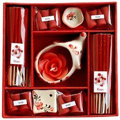 #Diwali #Gift - Rose Incense Box : Candles