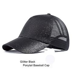 c6ca47d4700 Ponytail Baseball Cap Ladies Outdoor Glitter Mesh Messy Ponytail Hat
