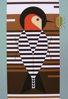 Baffling Belly - Charley Harper