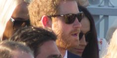 Prince Harry Makes Rare Appearance With Girlfriend Meghan Markle At Jamaican Wedding