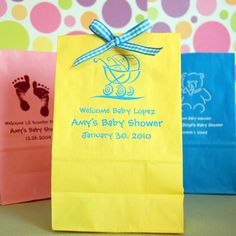 Personalized Baby Shower Goodie Bags by Beau-coup