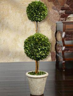 "Decorative Boxwood Balls Preserved Boxwood Topiary  Three Ball  59"" #boxwood"