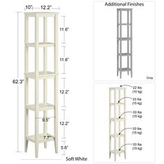 SystemBuild Franklin Storage Tower, Soft White - Walmart.com - Walmart.com Vertical Storage, Extra Storage Space, Storage Spaces, Open Shelving, Storage Shelves, Wall Shelves, Wall Shelf Decor, Decorative Mouldings, Wall Anchors