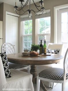 Simple Details: diy arhaus inspired weathered table... going from light wood furniture to weathered and it looks easy!