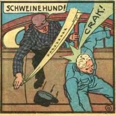 SCHWEINEHUND - lit: pig-dog. a not so serious SOB - you could say it jokingly w/o consequences...