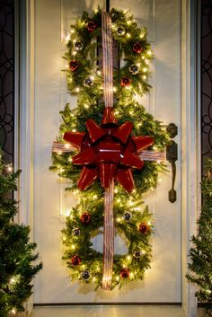 Triple Hanging Wreaths, All Tied Up