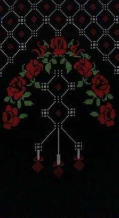 This Pin was discovered by HUZ Cross Stitching, Cross Stitch Embroidery, Hand Embroidery, Palestinian Embroidery, Prayer Rug, Cross Stitch Flowers, Christmas Cross, Filet Crochet, Diy And Crafts