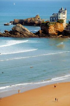 """Biarritz, France.  Where would you live if you won the lottery? Join thousands of dream-home lovers on LottoGopher.com, the website NBC calls """"The best way to order California lottery tickets online!"""""""
