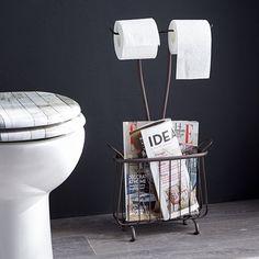 Porte-revues toilette  #bathroom #toilette
