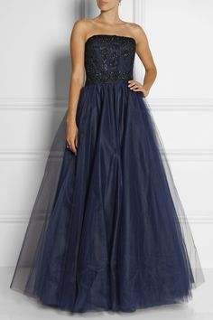 Notte by Marchesa|Embellished tulle gown|NET-A-PORTER.COM