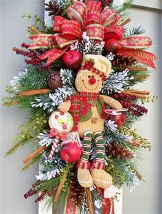 The Christmas Shop - Timeless Floral Boutique Gingerbread Christmas Decor, Disney Christmas Decorations, Christmas Swags, Whimsical Christmas, Holiday Wreaths, Rustic Christmas, Christmas Holidays, Christmas Crafts, Christmas Ornaments