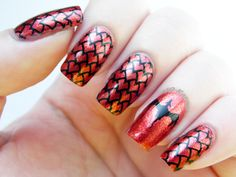 With Fire and Blood Game of Thrones Dragon nails +10 kapow