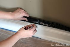 The Beginner's Guide to Patching and Painting Baseboards - Just a Girl and Her Blog