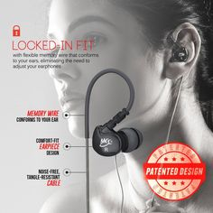 MEE Audio Sport-Fi M6 Noise Isolating In-Ear Headphones