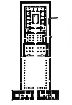 Plan of Temple of Horus, Edfu, Egypt