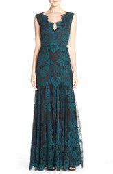 ERIN erin fetherston'Joanna' Lace Fit & Flare Gown