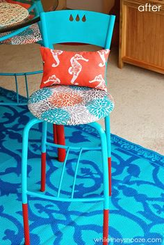 While They Snooze: Outdoor Dining Makeover with fabrics from OnlineFabricStore.net