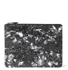 Givenchy Camo Flower-Print Leather Pouch | MR PORTER