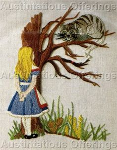 alice in wonderland embroidery - Google Search