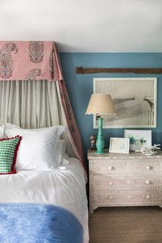 Octavia Dickinson | House & Garden Grown Up Bedroom, Master Bedroom, Bedroom Decor, Gray Bedroom, Master Suite, Kids Bedroom, Wall Decor, Grey Bedroom With Pop Of Color, End Of Bed Bench