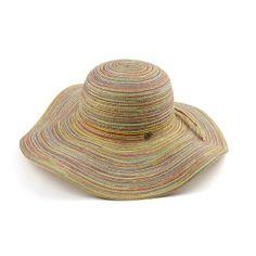 69ebe77e1a7 Infinity Selections Women s Sewn Braid Floppy Hat-  Vivian-11181079-Yellow-One Size