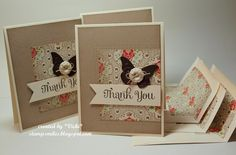 Butterfly Thanks by basement stamper - Cards and Paper Crafts at Splitcoaststampers