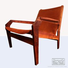 Leather and wood chair.