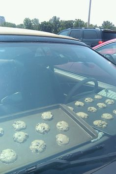 1. Cookies baked while I'm at work. 2. Yummy cookie smell in my car for weeks. 3. Don't have to worry about turning off oven when finished baking.