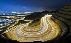 Oman | Lights of Muscat from Al Amerat. credit: Qass Al Farsi. view on Fb https://www.facebook.com/OmanPocketGuide #oman #destination #traveltooman