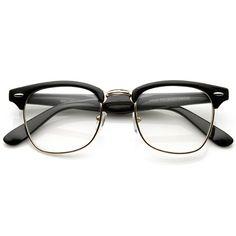 7e9cdf609f Amazon.com  FRAMEWORK - Vintage Inspired Classic Clubmaster Nerd Wayfarers  UV400 Clear Lens Glasses