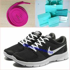 new concept 489bd cce2e Rose Lace Mens Tiffany CO Rings Nike Flex Experience Run Black White Shoes