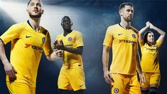 Premier League giants, Chelsea have released their new away kit for the season, with Nike taking the West London club back to a yellow strip for Chelsea Fc, Chelsea Nike, Chelsea Shirt, Chelsea Soccer, Short Blanc, Short Noir, White Hart Lane, Manchester City, Camisa Chelsea