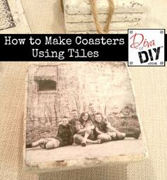 DIY Drink Coasters and 15 other Father's Day gifts kids can make!
