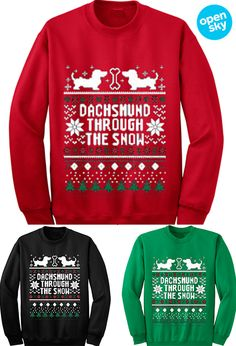 Looking to win at your annual ugly sweater Christmas party this year? While this cozy sweatshirt is adorable to some, it makes for a hilarious tongue-in-cheek cold weather essential for the holidays.