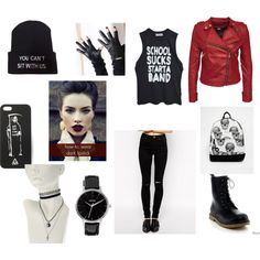 Rock n' Roll Baby by chaimae-megherbi on Polyvore featuring mode, ASOS, Reneeze, Mi-Pac and Nixon