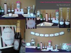 Bridal Shower PRINTABLES Paris Themed - DIY Printable Bridal Shower Collection. , via Etsy.