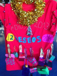 12 deseos 2014. #handmade #iresingrapas #camiseta #diy Www.iresingrapas.blogspot.com.es