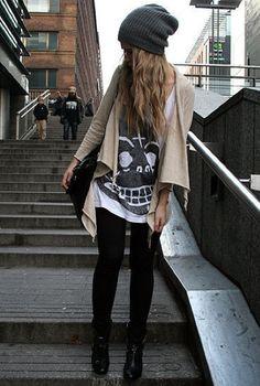 rocker chic.  women's fashion and street style.