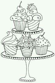 ausmalbilder zum ausdrucken basteln and cupcake